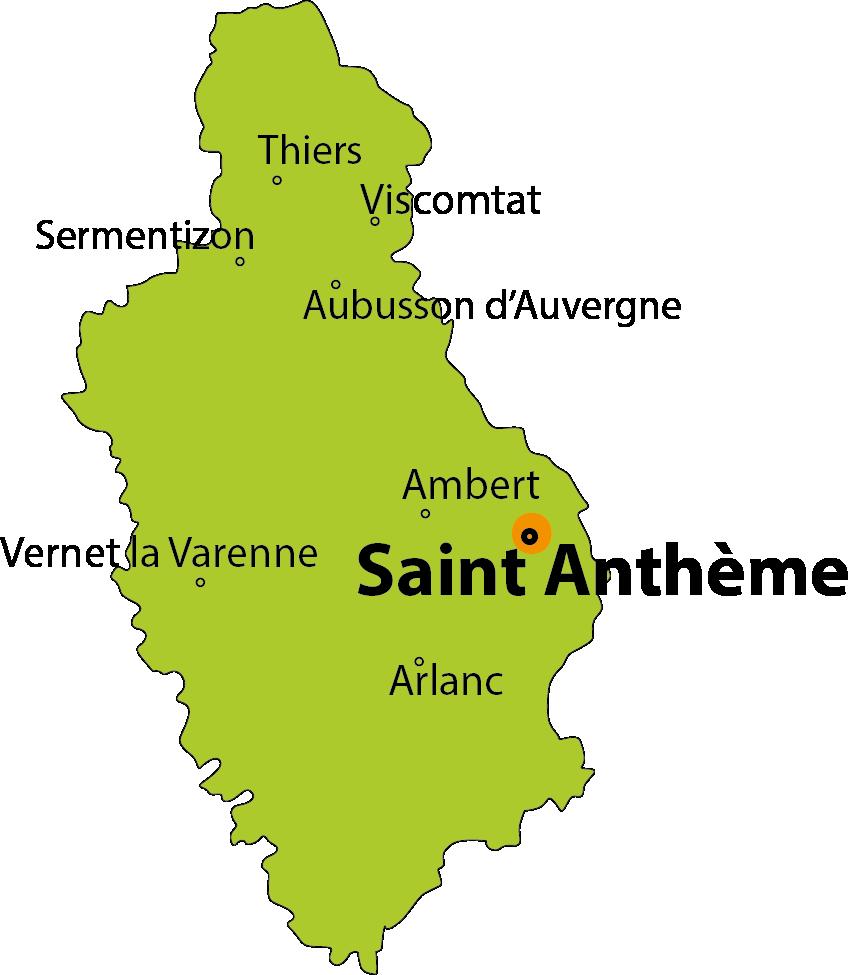 carte Saint Anthème, La Jasserie du Coq Noir