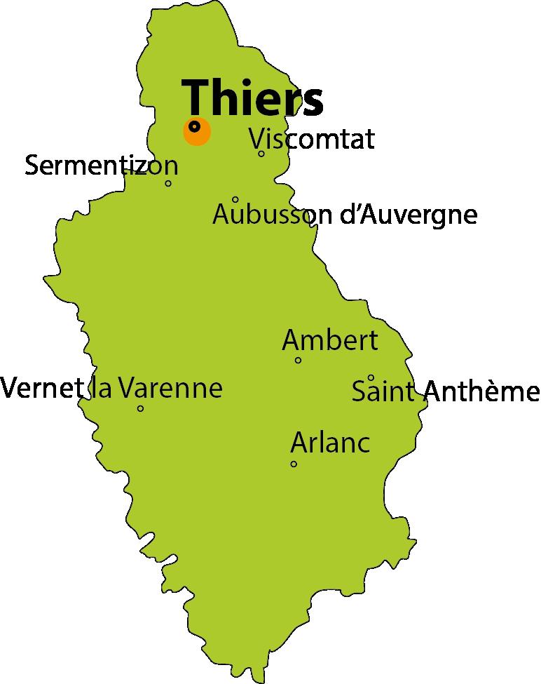 carte Thiers, la Vallée des rouets