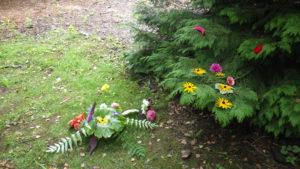 animation landart enfants au Jardin pour la Terre, Arlanc, Puy de dôme