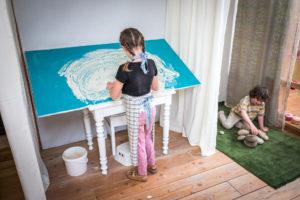 atelier jeu de la barbotine à l'Atelier du Sardier, Puy de dôme