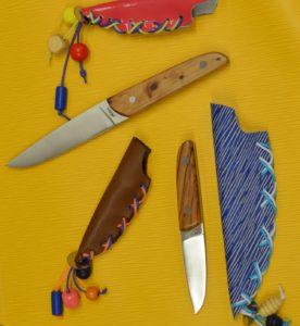 animation famille, montage d'un couteau fixe au musée de la coutellerie